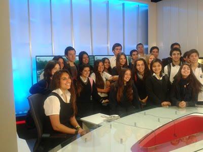 Alumnos de Tercero Medio visitan los estudios de Televisión Nacional de Chile (TVN)