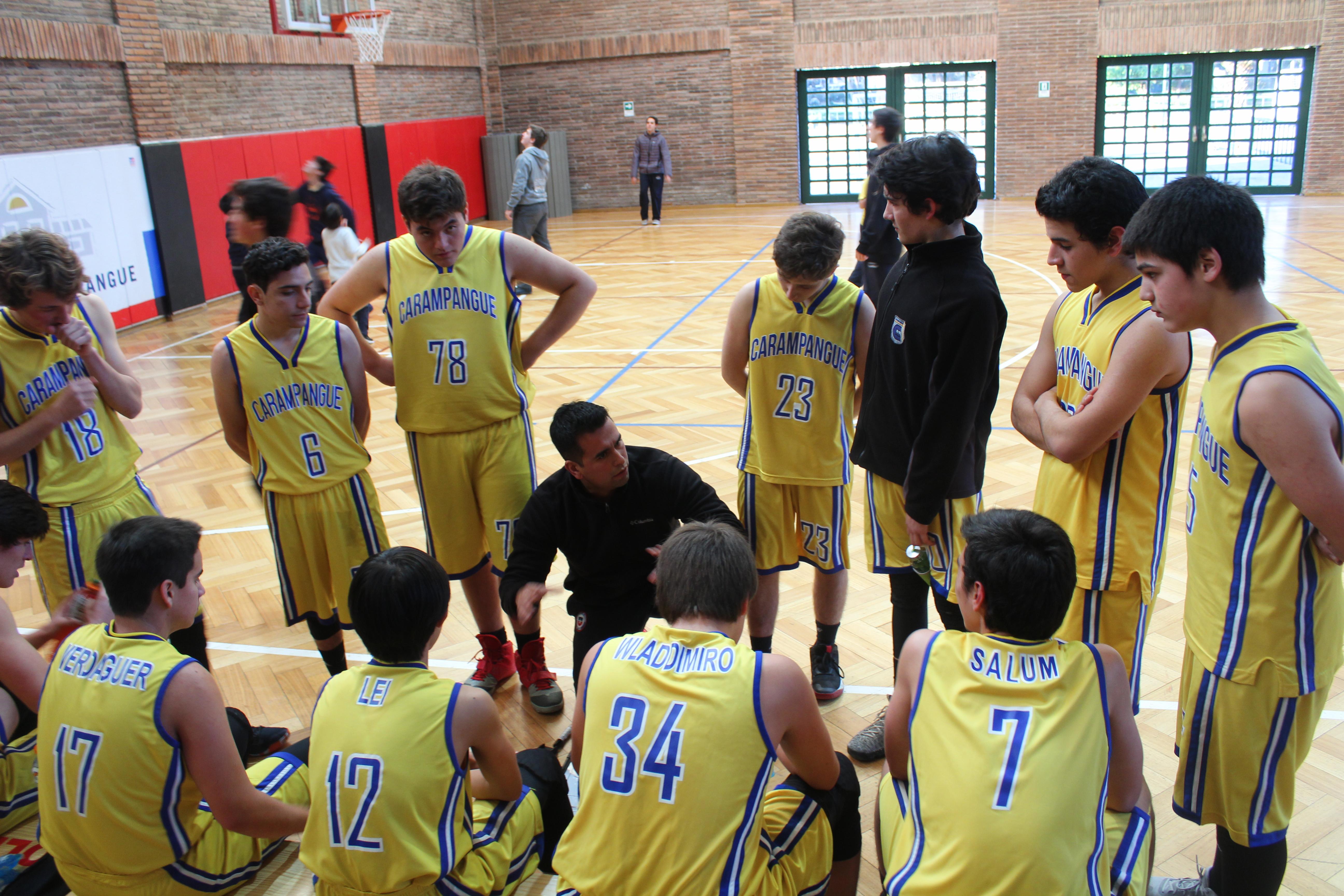 Colegio Carampangue a la Final Copa UC Soprole, Basquetbol categoría Intermedia