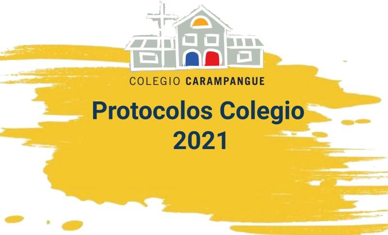Protocolos de regreso al Colegio para alumnos, apoderados y de sanitización